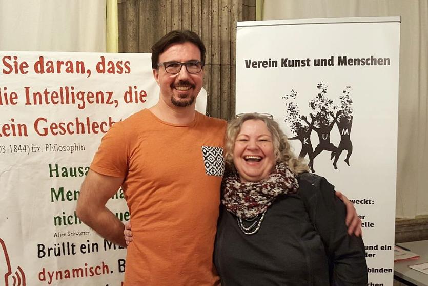 Gaby und Savo Ristic - Verein Kunst und Menschen KUM